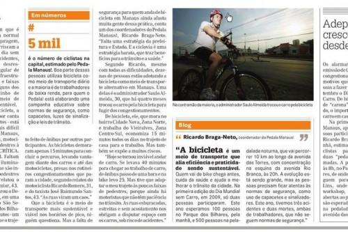 A Crítica: A difícil arte de ser ciclista em Manaus
