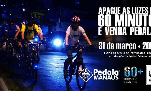 Pedala Manaus realiza pedalada pela Hora do Planeta