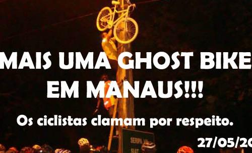 """Mais uma """"Ghost Bike"""", Menos uma VIDA!!!"""