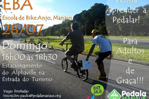 Pedala Manaus realiza 2a. edição do EBA – Escola Bike Anjo, que ensina adultos a pedalar!