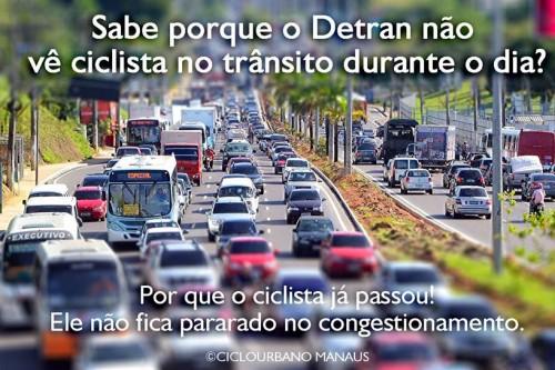 A bicicleta na visão do Poder Público de Manaus não passa de brincadeira de criança.